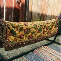 """Stunning Authentic Tapestry Throw with Fringe - Very Detailed and Unique - 64"""""""