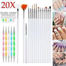 20pcs Pro Nail Art Design Set Dotting Painting Drawing Polish Brush Pen Kit