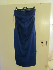 Star Julien Macdonald Strapless Blue Bodycon Party Dress in Size 14