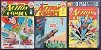 Action Comics #435 to #437. DC 1974. 3 x Bronze Age Issues.