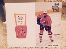 Wayne Gretzky Mcdonald's Canada 1998 Nagano Japan Coupon Big Mac Japanese Card