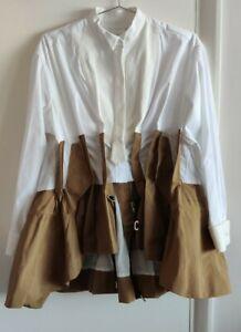 Sacai Pannelled Two Tone Poplin Shirt Size 2