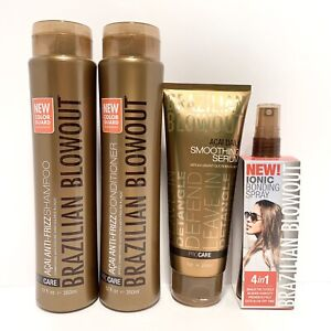 Brazilian Blowout Anti-Frizz Shampoo, Conditioner, Serum & Ionic Bonding Spray