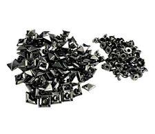 "New listing Pkg of 20 Gun Metal Black 11/32"" (9mm) Pyramid Metal Rivet Studs 1/4"" post (1082"