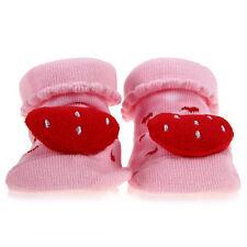 Chaussettes de Bébé Enfant Nouveau-né Antidérapant Chaud Mignon FRAISE ROSE