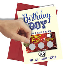 #177 Scratch Card GREETINGS BIRTHDAY Card Comedy / Funny / Humour / Rude Joke