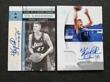 ANDREI KIRILENKO 03-04 UD LEGENDS SP AUTHENTIC AUTO JERSEY LOT #100 (2)AUTOGRAPH