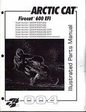 2004  ARCTIC CAT SNOWMOBILE FIRECAT 600 EFI PARTS MANUAL P/N 2256-903  (684)