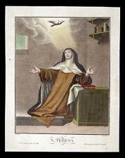 lithographie 1800 S.TERESA AVILA trempette. dans bateaux D'occasion et FANFANI