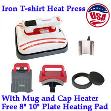 12x10inch Portable Iron T-shirt Heat Press Transfer Printing Machine with Heater