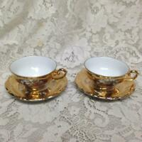 Vintage Rare, German, Gilded 4pc Tea Set