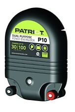 PATRIOT P10 Electric Fence Charger Energizer | 30 mile/ 1J and Free Fence Tester