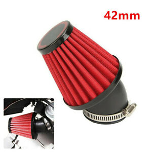 42mm Car Sport Cold Air Filter Intake Kit 45° Bend Inlet With Adjustable Clamp