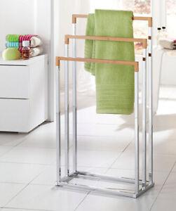 Bamboo Chrome Hand Towel Holder Rod Handtowel Stand Towel Dryers