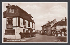 RPPC Real Photo Postcard The Square Findon Arun District West Sussex House Hotel