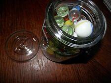 Vintage Glass Ball Jar Full Of Marbles