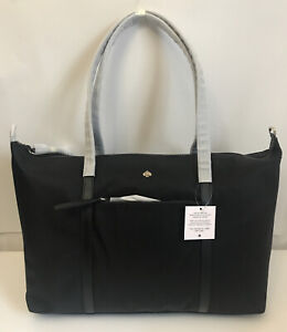 NWT!!Kate Spade Jae Nylon Weekender Travel  Bag In Black