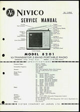 JVC Nivico Model 8201 AM FM Radio Super Rare Original Factory Service Manual
