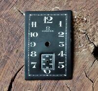 Vintage Omega watch T17 caliber movement matte black watch dial rare NOS part