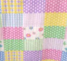 "Fleece Fabric Baby Pastel Patchwork  60"" Wide Polka dot Gingham Flower Butterfly"