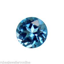 4 mm redondo facetado Original Londres Topacio Azul Piedra Suelta