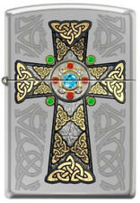 Déguisement Croix Celtique Irlandais Pride Haut Chrome Poli Zippo Briquet