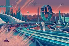 """Mondo - Tomorrowland (Variant) - Kevin Tong - Numbered Limited Edition 24"""" x 36"""""""