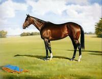 Canvas Print Strong Race Horse Oil painting Art Giclee Printed on canvas P425
