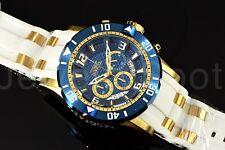 Invicta Pro Diver Scuba Gen III Deep Dish Chrono Blue Dial GP White Strap Watch