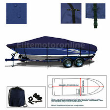 12'-14' V-hull Fishing / Ski Premium Trailerable Jon Boat Cover Navy