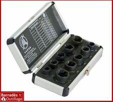 Coffret 10 extracteur de têtes boulons, vis, clous, ..., endommagés - 9 à 19 mm