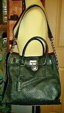 MICHAEL KORS Perforated Saffiano Large Tote {black} ---- ---- ---- ----  - -