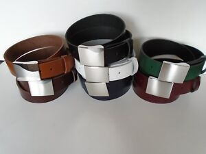 S2 HAND MADE QUALITY LEATHER UNISEX BELTS SMALL TO XXL 7 COLOURS AVAILABLE 40MM