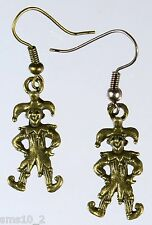 Hand Made Bronze Colour Jester Earrings HCE214