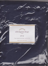 "set/2 panels,Pottery Barn Silk Dupioni Drapes,50x84"",indigo blue,cotton line,new"