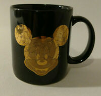 Disney Mickey Mug. Black with Gold Mickey