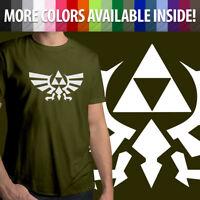 Nintendo The Legend of Zelda Triforce Wingcrest Crest Mens Tee Crew Neck T-Shirt