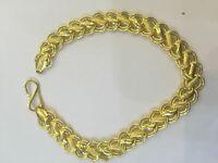 Classy Dubai unisex loto di catena bracciale in oro giallo massiccio 22 carati