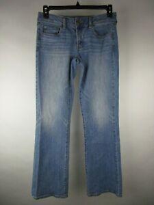 American Eagle Womens Blue Stretch Favorite Boyfriend Denim Jeans Size 8 Long