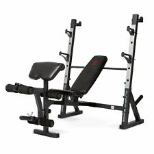 Marcy Olympic Weight Bench MD-857 Adjustable Leg Extension Squat Rack Workout