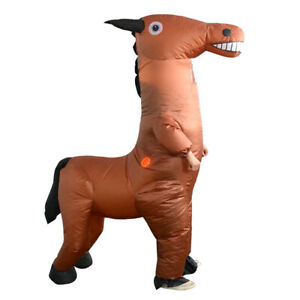 Adults Horse Inflatable Costume Mall Bar Walking Props Halloween Spoof Outfits