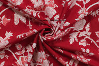 Hand Block Print Fabric Floral Indian Handmade 100% Cotton By Yard Dressmaking