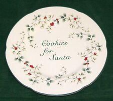 "Pfaltzgraff USA Winterberry 8 7/8"" Cookies for Santa Plate 1st Quality - VGD"