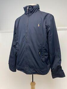 Polo Ralph Lauren Men's Navy Blue Bomber Harrington  Jacket Coat UK L G170  A3