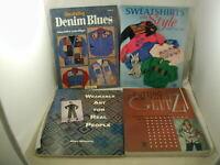 Sewing Clothing Embellishments 4 Books Denim Sweatshirts Wearable Art Glitz