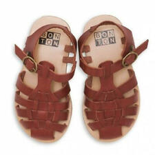 Unused Caramel baby&child sandals Size21 Brown made in Spain 100%leatherF/SfdaCO