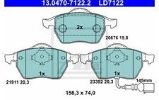 ATE Juego de 4 pastillas freno delantero para SEAT LEON VW 13.0470-7122.2