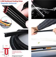 160CM Car Auto Dashboard Sealing Strips Soundproof Dustproof U-Shape Rubber