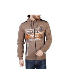 Geographical Norway Herren Zip-Sweater Braun Gr. M/L NEU mit Etikett + Rechnung