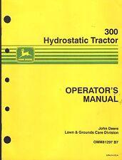 John Deere 300 Hydrostatic Tractor Operators Manual Omm81297 B7 (433)